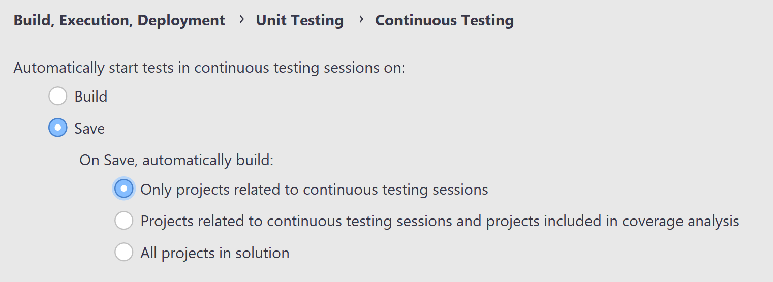 Improved Continuous Testing