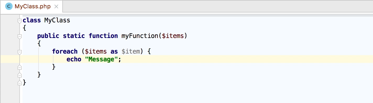 ライブテンプレートの使用 公式ヘルプ phpstorm