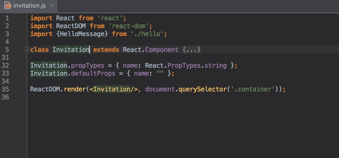 react 公式ヘルプ webstorm