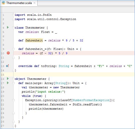 Scalaの実行、デバッグ、テスト - 公式ヘルプ | IntelliJ IDEA