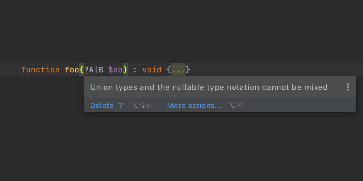 Work with nullable types