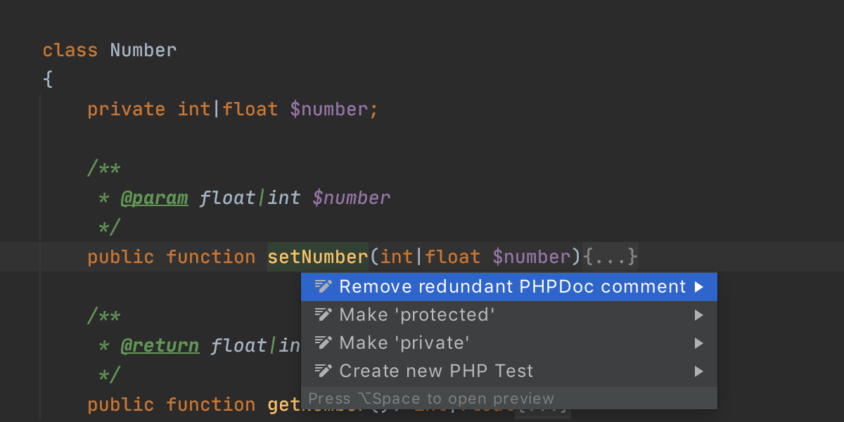 Remove redundant PHPDoc