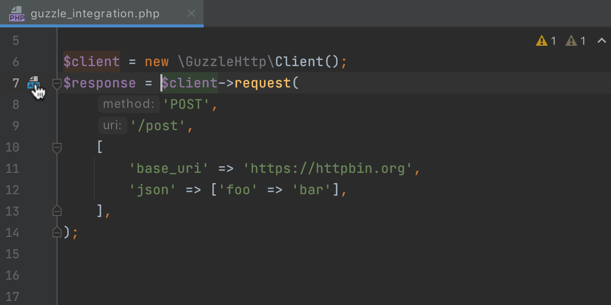 Run Guzzle requests with the HTTP client