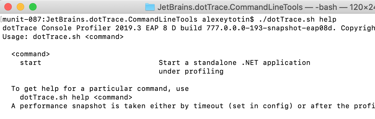Command-line profiler on macOS and Linux